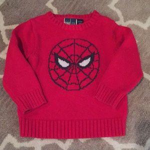 3T Baby Gap/Junk Food Spider-Man Sweater